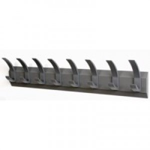 Hat and Coat Wall Rack with Concealed Fixings 8 Hooks Graphite