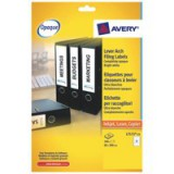 Avery Laser Labels Lever Arch File 60x200mm 4 Per Sheet Code L7171-25
