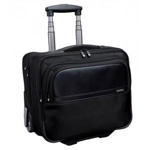 Lightpak Executive Trolley with Detachable Laptop Sleeve Nylon Capacity 17in Black Ref 46101