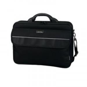 Lightpak Elite Large Laptop Case Nylon Capacity 17in Black Ref 46111