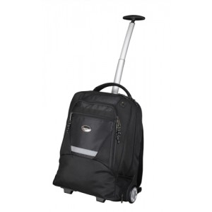 Lightpak Master Laptop Backpack with Trolley Nylon Capacity 15.4in Black Ref 46005