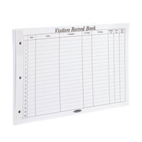 Image for Concord CD14P Refill for Visitors Book 50 Sheets 2000 Entries 230x355mm Ref 85801