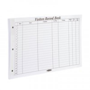 Concord CD14P Refill for Visitors Book 50 Sheets 2000 Entries 230x355mm Code 85801