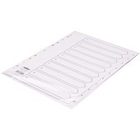 Concord White Index Polypropylene 120 Micron Europunched 1-10 A4 Ref 64101