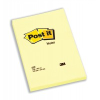 Image for Post-it Notes Large Plain Pad of 100 Sheets 102x152mm Canary Yellow Ref 659YE [Pack 6]