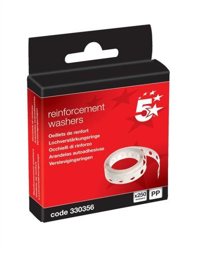 5 Star Vinyl Reinforcement Washers [Box 250]