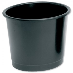 5 Star Plastic Waste Bin Black