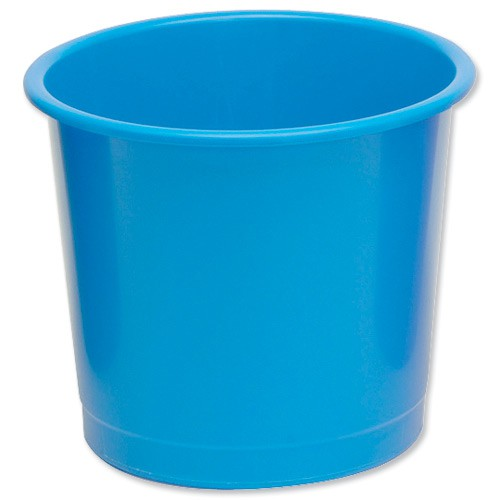 5 Star Plastic Waste Bin Blue