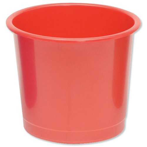 5 Star Plastic Waste Bin Red