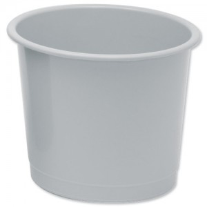 5 Star Plastic Waste Bin Grey