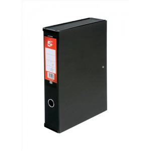 5 Star Office Box File F/Scap Black