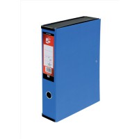 Image for 5 Star Box File Lock Spring with Ring Pull and Catch 75mm Spine Foolscap Blue