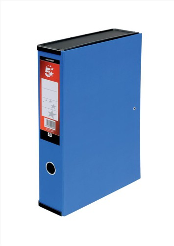 5 Star Office Box File F/Scap Blue