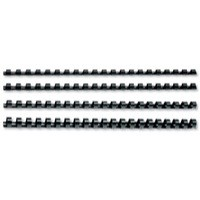 GBC Binding Combs Plastic 21 Ring 45 Sheets A4 8mm Black Ref 4028174 [Pack 100]