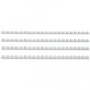 GBC Binding Combs Plastic 21 Ring 45 Sheets A4 8mm White Ref 4028194 [Pack 100]