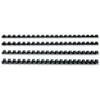 GBC Binding Combs Plastic 21 Ring 125 Sheets A4 14mm Black Ref 4028178 [Pack 100]