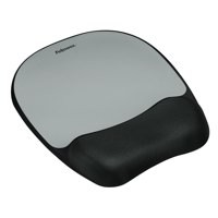 Fellowes Mousepad Non-skid Memory Foam Silver Ref 917580