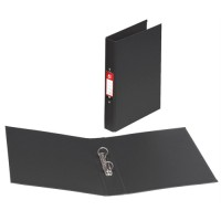 Image for 5 Star Ring Binder PVC 2 O-Ring Size 25mm A4 Black [Pack 10]