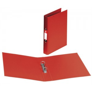 5 Star Ring Binder PVC 2 O-Ring Size 25mm A4 Red [Pack 10]