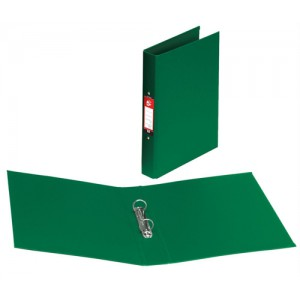 5 Star Ring Binder PVC 2 O-Ring Size 25mm A4 Green [Pack 10]