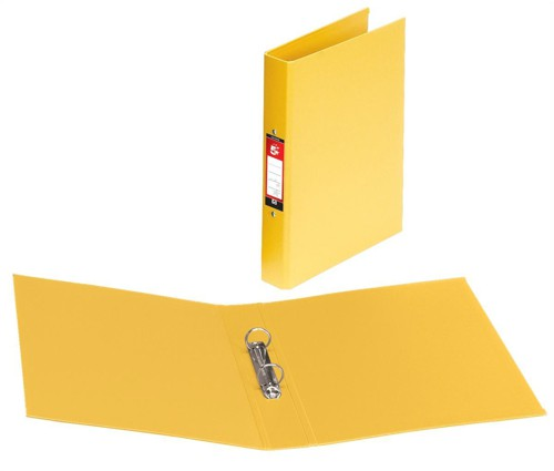5 Star 2R/Binder A4 PVC Yellow