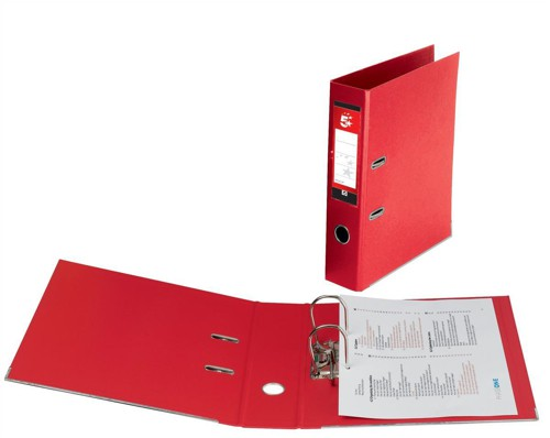 5 Star Premier PVC L/Arch File A4 Red