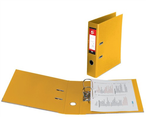 5 Star Lever Arch File PVC Spine 70mm A4 Yellow [Pack 10]