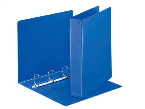 Esselte Presentation Ring Binder Polypropylene 4 D-Ring 40mm A4 Blue Ref 49762 [Pack 10]