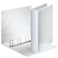 Esselte Presentation Ring Binder Polypropylene 4 D-Ring 40mm A4 White Ref 49704 [Pack 10]