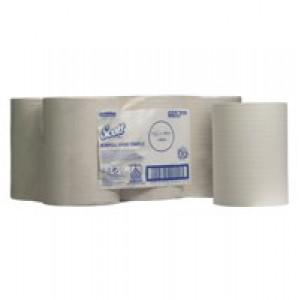 Scott Slimroll Hand Towel Single Ply White 200mmx165m Code 6657 Pack 6]