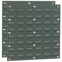 Image for Barton Storage TP1 Louvered Panel Double Indented W457xH438mm Grey Ref 010101/P [Pack 2]