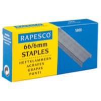 Rapesco Staples 6mm 66/6 Pack of 5000