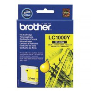 Brother Inkjet Cartridge Page Life 400pp Yellow Ref LC1000Y