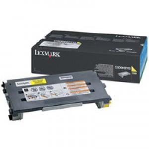 Lexmark C500 High Yield Toner Cartridge Yellow C500H2YG