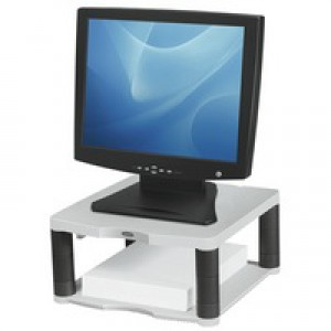 Fellowes Premium Monitor Riser for 21in 5 Heights 64-165mm Platinum Code 91717
