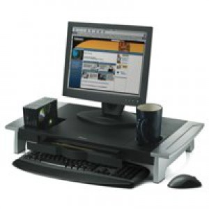 Fellowes Office Suites Monitor Riser Large Height-adjustable with Storage Tray 22kg Load Ref 80310