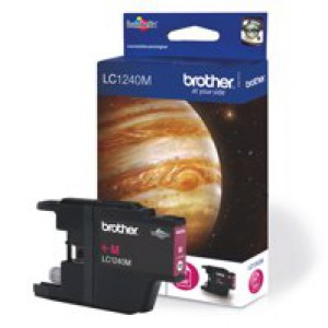 Brother Inkjet Cartridge Page Life 600pp Magenta Code LC1240M