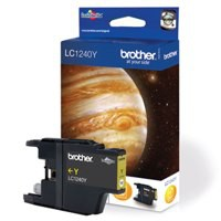 Brother Inkjet Cartridge Page Life 600pp Yellow Code LC1240Y