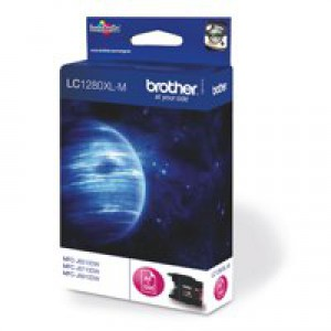 Brother Inkjet Cartridge High Yield Page Life 1200pp Magenta Code LC1280XLM
