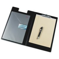 Image for Clipboard Fold Over Executive PVC Finish with Pocket Foolscap Black