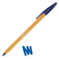 Image for Bic Orange Ball Pen 0.8mm Tip 0.2mm Line Blue Ref 1199110111 [Pack 20]