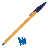 Image for Bic Orange Ball Pen 0.8mm Tip 0.2mm Line Blue Ref 1199110111 [Pack 20]
