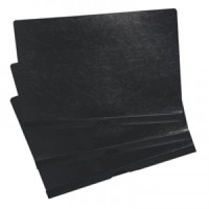 5 Star Clip Folder 3mm Spine for 30 Sheets A4 Black [Pack 25]