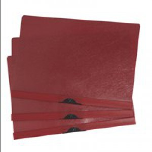 5 Star Clip Folder 3mm Spine for 30 Sheets A4 Red [Pack 25]