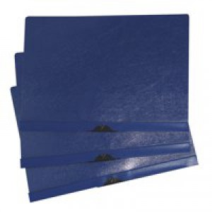 5 Star Clip Folder 6mm Spine for 60 Sheets A4 Blue [Pack 25]