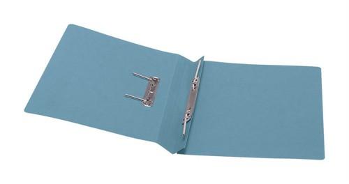 5 Star Transfer Spring File 315gsm 38mm Foolscap Blue [Pack 50]