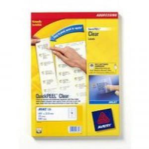 Avery Clear Addressing Labels 14 per Sheet 99.1x38.1mm 350 Labels Code J8563-25