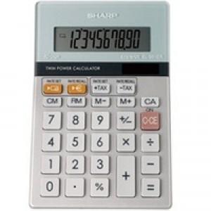 Sharp Calculator Desktop Battery Solar-power Euro 10 Digit 100x152x33mm Code EL331ERB