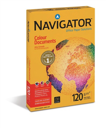 Navigator Colour Documents Paper Ultra Smooth Ream-Wrapped 120gsm A3 White Ref NCD1200017 [500 Sheets]