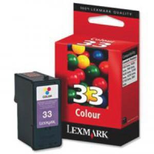 Lexmark No.33 Inkjet Cartridge Colour Code 18CX033E